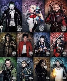 All #SuicideSquad Character Posters! ~@thebatbrand