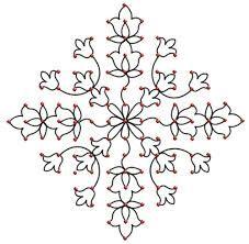 rangoli designs with dots - Google Search