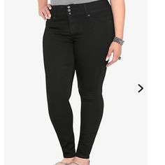 Black Torrid Jeggings Black size 24 torrid Jeggings. Some light fading. A little thinning between the legs but otherwise perfect condition. Regular Length but they run a bit short. See site for better size details. Ready to ship. Use offer button . torrid Jeans Skinny