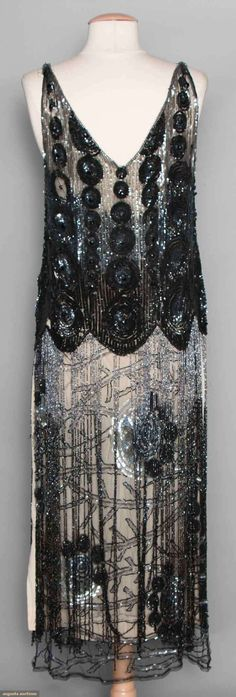 Tabard (image 3) | 1925 | net, gunmetal sequins | Augusta Auctions | November 12, 2014/Lot 199