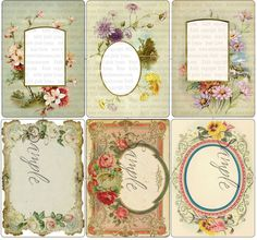 Ornate Victorian Frames and Mats in ACEO or ATC digital collage, fancy frames, ACEO, frames, vintage collage, labels, handmade, instant download, printable tags, Gift tags, Scrapbook tags, atc, collage sheet, by with wild abandon