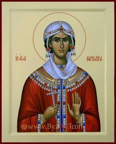 Byzantine Icons, Byzantine Art, Religious Images, Religious Art, Saint Barbara, Orthodox Christianity, Orthodox Icons, Christian Art, Saints