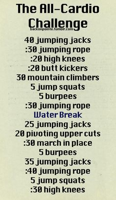 Great non-machine cardio workout! When I am too lazy to get dressed to go to the gym