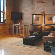 light oak floors with dark furniture