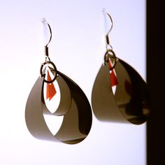 Unique earrings made of Floppy Disk and 35mm Film  by HAPPYFACTORY, $18.00