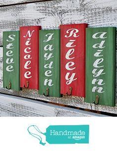 Christmas Stocking Holder with Distressed Finish Reclaimed Wood Christmas Decoration Stocking Hanger Christmas Decor Rustic Decor from Reclaimed Oregon https://smile.amazon.com/dp/B01LYEKOYW/ref=hnd_sw_r_pi_dp_XcvtybYRWQCP4 #handmadeatamazon