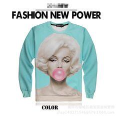 3D Sweatshirts Monroe Eat Chewing Gum Beauty Moment Iswag Brand Sweatshirt Crew Neck Cotton Long Sleeve Hip Hop Sweatshirts Fashon J160129 http://www.dhgate.com/product/3d-sweatshirts-monroe-eat-chewing-gum-beauty/373095694.html