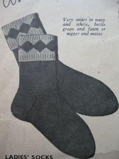 Wartime Socks Stockings Scarves & Gloves Pixie by BlitzAndGlamour