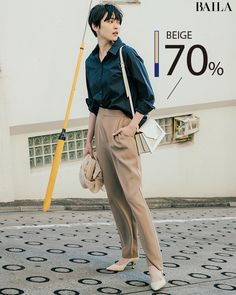 Short Hair Fashion Outfits, Fashion Pants, Preppy Casual, Preppy Style, Daily Fashion, Love Fashion, Womens Fashion, Japan Fashion Casual, Muji Style