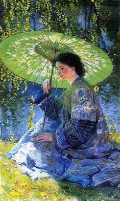 The Athenaeum - The Green Parasol (Guy Orlando Rose - circa 1909)