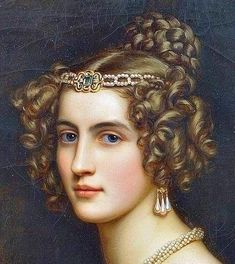 "gailcarriger: ""antique-royals: ""Joseph Karl Stieler ,Schloss Nymphenburg (Castle), Schonheitengalerie (Gallery Of Beauties)(details). "" Hairstyles similar to those the girls where in the Finishing School series. Classic Paintings, Old Paintings, Beautiful Paintings, Old Portraits, Portrait Art, Fashion Painting, Fashion Art, Joseph, Historical Hairstyles"