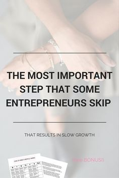 THE MOST IMPORTANT STEP THAT ENTREPRENEURS SKIP - that results in slow growth. Plus a free download - Productivity Calendar for small business owners!