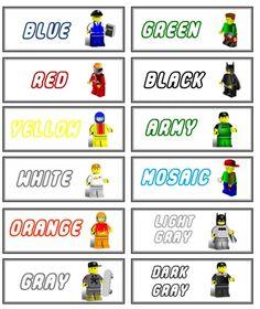 Free printables for Lego Storage