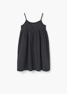 Textured cotton dress | MANGO KIDS