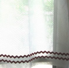 for the kitchen Kitchen Linens, Kitchen Curtains, White Curtains, Panel Curtains, Lace Bedding, Retro Kitchens, Vintage Rv, Vintage Curtains, How To Make Curtains