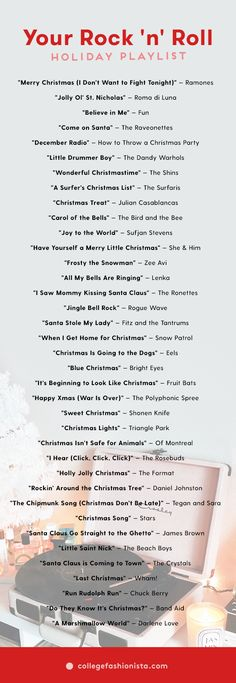The perfect rock and roll holiday playlist for the season.