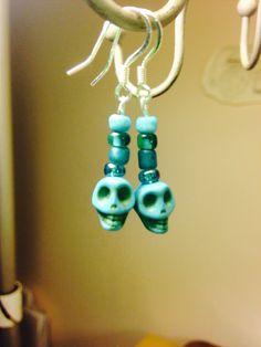 Skill earrings- perfect for Halloween or any day