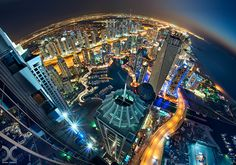 View From The Top: Dubai Skyscapes By Daniel Cheong ♥Love this view of Dubai. It's like you can see the edge of the Earth!♥  #GlobalLuxuryTravel #Dubai #JWMarriott #Ad