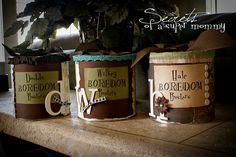 Boredom Buster jar - must do of summer!