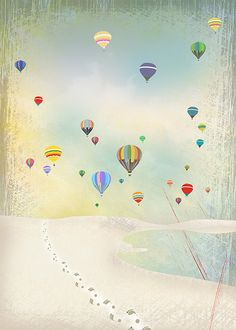 one of my illustrations from 2010...inspired by a summers day with balloons