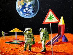"""""""Houston, we're having way too much fun up here...over and out"""" #marijuana #weed"""