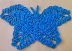 Crochet - Crosia Free Patttern Urdu, Hindi Video Tutorials: CROCHET BUTTERFLY FREE PATTERN WITH PICTURES