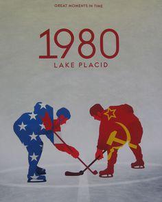 1980 Lake Placid hockey poster