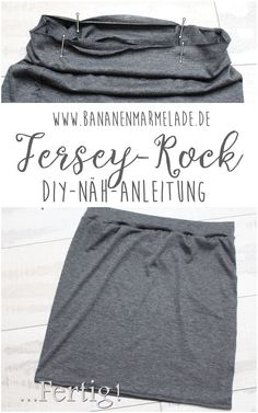{Sewing Steps On Sunday} Einfacher Jersey-Rock Step-by-step instructions for a simple jersey skirt! Sewing Projects For Beginners, Knitting For Beginners, Knitting Projects, Diy Projects, Sewing Patterns Free, Clothing Patterns, Knitting Patterns, Crochet Patterns, Sewing Hacks