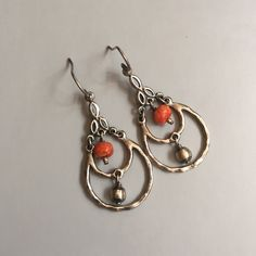 Silpada W1560 RETIRED Silver & Coral Earrings .925 Sterling Silver. Sponge Coral. Silver Beads. French wires. Display item. Never worn. RETIRED ITEM. NO LONGER AVAILABLE. Silpada Jewelry Earrings