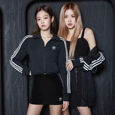 Jennie and Rose for Adidas Originals Korea ❤️ - Kore tarzı - Jackets Kim Jennie, Jenny Kim, Forever Young, Blackpink Fashion, Fashion Outfits, Adidas Originals, Black Pink ジス, Rose Adidas, Pink Adidas
