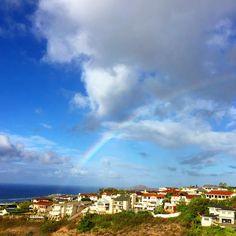 Good Morning from my house! 朝から虹です! 今日も良い事ありそう! ハッピーな一日を!