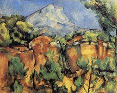 Paul Cezanne Mont Sainte-Victoire Seen from the Quarry at Bibemus oil ...