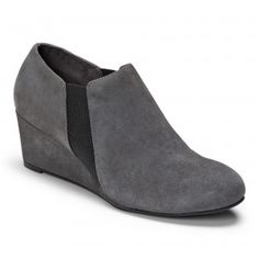 Slate Grey Ankle boot, $150. Great arch support for plantar fasciitis