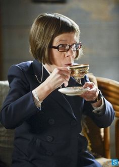Henrietta Lange (Linda Hunt) on the show NCIS Los Angeles with another interesting teacup. #celebrities #tea
