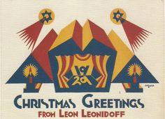 Fortunato Depero Voeux de Noël de / Christmas greetings from Léonidas Impression typographique / Typographic print, 12.2 x 15.7 cm 1939