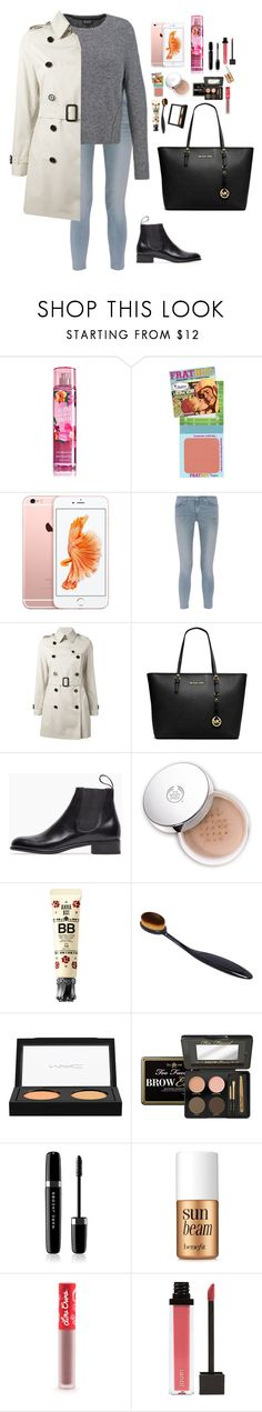 """""""Untitled #2331"""" by veronicaptr ❤ liked on Polyvore featuring TheBalm, rag & bone, Topshop, Burberry, MICHAEL Michael Kors, Le Yucca's, Anna Sui, MAC Cosmetics, Too Faced Cosmetics and Marc Jacobs"""