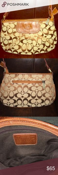 Coach Purse A very cute coach purse, perfect for your wallet and cell phone. Well loved and cared for, nearly new condition. Coach Bags Shoulder Bags