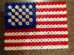 American Flag, beads perles Hama