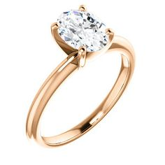 14K Rose Oval Engagement Ring | ASHLEY 123213