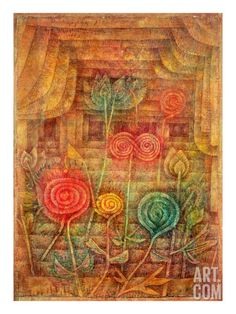 Spiral Flowers, 1926 Giclee Print by Paul Klee at Art.com