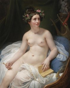 The Poetess Sappho. La Poetisa Sappho. Jacques-Louis David (attr. to François Gérard, French, 1770-1837).
