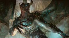 Rune-Scarred Demon by Michael Komarck