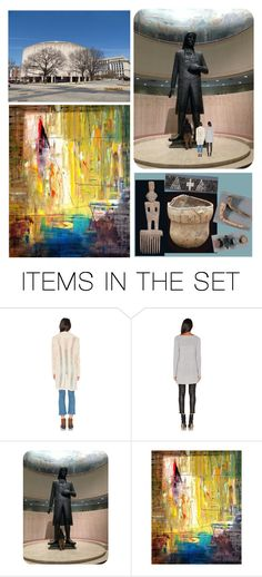 """It Was Raining & Cold as They Drove Around DC, Through MD & Into PA…They Decided on a 1 Hour Stop at the PA State Museum Where a Giant William Penn Greeted Them…Ari Went to the Exhibit by Artist Antonio Carreno…Maria Went to the Native American Section"" by maggie-johnston ❤ liked on Polyvore featuring art"