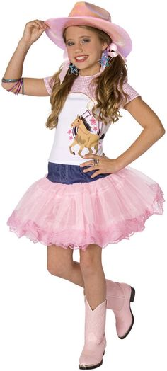 Planet Pop Star Cowgirl Child Costume Includes: hat, shirt, skirt. Does not include jewelry or boots. Weight (lbs) 0.63 Length (inches) 15 Width (inches) 12.5 Height(inches) 6.5