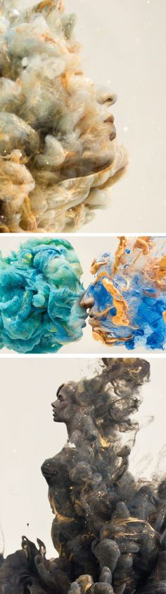 Portraits in Swirls of Paint / Chris Slabber. Pinned by Daniëlle Bergman Art