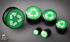 It doesn't get much more hipster than this... recycle promoting plugs.