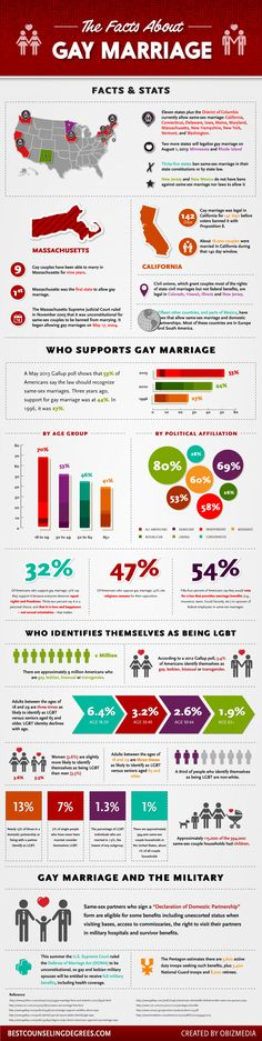 Facts and stats about same-sex marriage #infographic #gay #LGBT