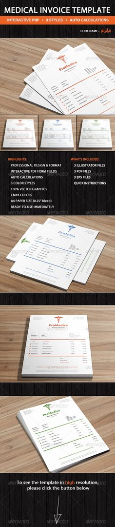Medical Bill Template  Olivia  ReadyToUse Graphicriver