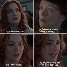 Kate Titanic, Titanic Funny, Titanic Movie Facts, Titanic Quotes, True Quotes, Funny Quotes, Funny Memes, Revolutionary Road, Leo And Kate