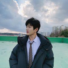 ❝Temen❞ ➛ Choi Bomin˚ˑ༄ؘ Korean Boys Ulzzang, Web Drama, Cha Eun Woo, Woollim Entertainment, Golden Child, K Idol, Kpop Aesthetic, Baby Daddy, Boyfriend Material